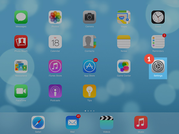 How to set up L2TP VPN on iPad: Step 1